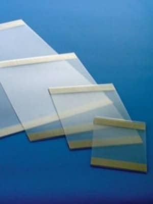 Portacarteles adhesivos de PVC