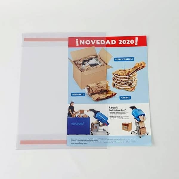 Portacarteles adhesivo de PVC A3