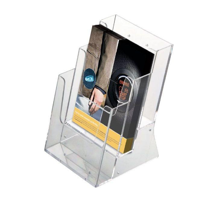 Portafolletos de sobremesa multiple a4 x 3 Caja de 4 unidades