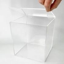 Caja de metacrilato con tapa 20x20x20