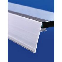 Perfil portaprecios para balda de vridrio de 5-10 mm