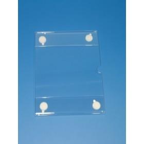 Portacarteles de metacrilato adhesivo A4